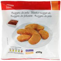 Nuggets de pollo EROSKI basic, bolsa 450 g