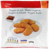 Nuggets de pollo EROSKI basic, bolsa 450 g