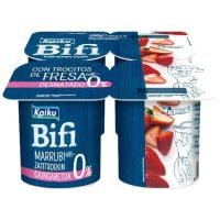 Bifi Activium 0% con fresas KAIKU, pack 4x125 g