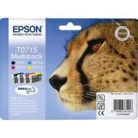 Pack de cartuchos de tinta original, 4 colores T0715 EPSON, 1 ud