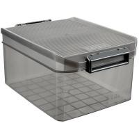 Caja de plástico con tapa color Fume, TATAY, 14 litros, 270x390x190mm