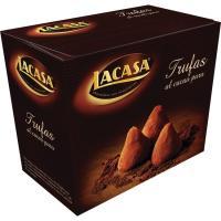 Trufas de cacao puro LACASA, caja 200 g