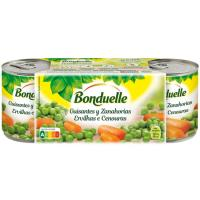 Guisante-zanahoria BONDUELLE, pack 3x130 g