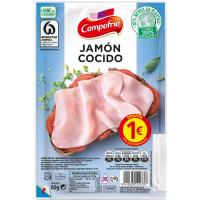 Jamón cocido CAMPOFRÍO, bandeja 100 g