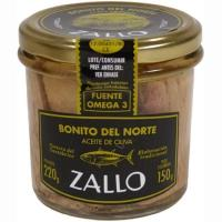 Bonito en aceite de oliva ZALLO, frasco 220 g