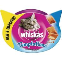 Tempations de salmón WHISKAS, tarrina 60 g