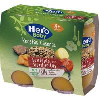 Lentejas con verduras HERO Receta Casera, pack 2x190 g