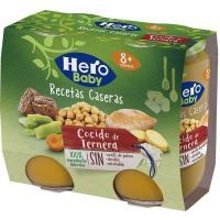Potito de cocido con ternera HERO Receta Casera, pack 2x190 g