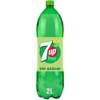 Refresco de lima limón s/ azúcar SEVEN UP Free, botella 2 litros