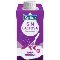 Nata para montar sin lactosa KAIKU, brik 200 ml