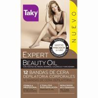 Cera bandas corporales Expert Beauty Oil TAKY, caja 12 unid.
