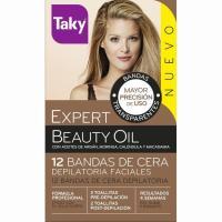 Cera bandas Faciales Expert Beauty Oil TAKY, caja 12 unid.