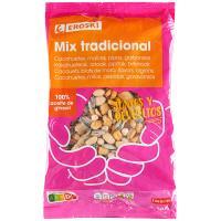 Mix de frutos secos tradicional EROSKI, bolsa 500 g