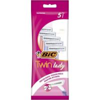 Maquinilla desechable BIC Twin Lady, pack 5 uds.
