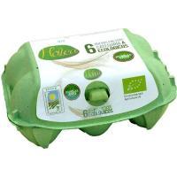 Huevo ecológico HOBEA, cartón 6 uds