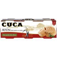 Atún en aceite de oliva CUCA, pack 3x65 g
