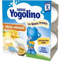 Iogolino de frutas variadas-queso NESTLÉ, pack 4x100 g