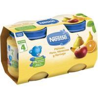 Potito de plátano-pera-manzana-naranja NESTLÉ, pack 2x130 g