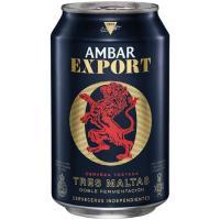 Cerveza AMBAR Export, lata 33 cl