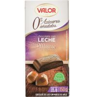 Chocolate Mousse sin azùcar con avellanas VALOR, tableta 150 g