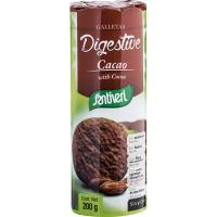 Galleta Digestive 0% azúcares con cacao SANTIVERI, paquete 200 g