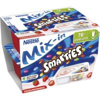 Yogur duo Smarties NESTLÉ, pack 2x128 g
