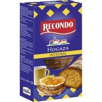 Hogaza de pan tostado integral RECONDO, caja 240 g