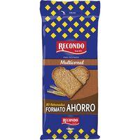 Pan tostado multicereal RECONDO, 80 rebanadas, paquete 640 g