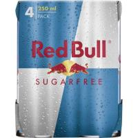 Bebida energética Sugar Free RED BULL, pack 4x25 cl