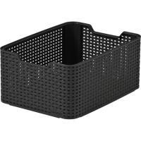 Caja de plástico color chocolate Style, CURVER, 18 litros, 385x290x172mm