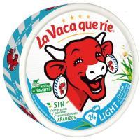 Queso fundido light LA VACA QUE RIE, 24 porciones, caja 375 g