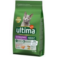 Alimento de salmón gato esterilizado ULTIMA, saco 1,5 kg