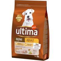 Alimento de pollo para perro mini adulto ULTIMA, saco 3 kg