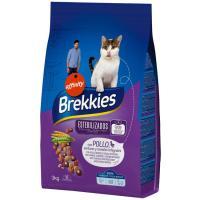 Alimento para gato esterilizado BREKKIES, saco 3 kg