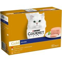 Mousses para gato GOURMET Gold, pack 12x85 g