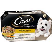 Salsa culinaria campesina para perro CÉSAR, pack 4x150 g