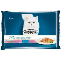 Alimento Simply Sea para gato GOURMET Perle, pack 4x85 g
