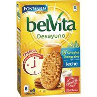 Galleta Belvita con cereales-leche FONTANEDA, caja 400 g