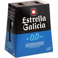 Cerveza 0,0 ESTRELLA GALICIA, pack botellín 6x25 cl