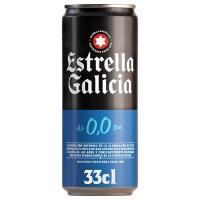 Cerveza 0,0 ESTRELLA GALICIA, lata 33 cl