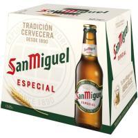 Cerveza SAN MIGUEL, pack botellín 12x25 cl