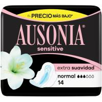 Compresa sensitive normal AUSONIA, paquete 14 unid.