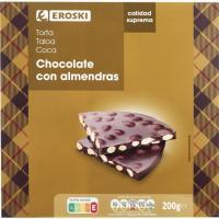 Torta de chocolate negro EROSKI, caja 200 g