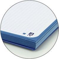 Cuaderno, recambio A4 encolado cuadriculado, 4 taladros tapa blanda, 80hojas OXFORD, 1ud