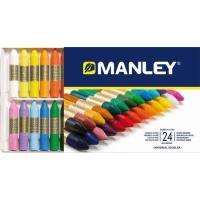 Ceras blandas colores surtidos MANLEY, caja 24uds
