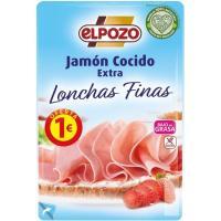 Jamón cocido lonchas finas ELPOZO, bandeja 90 g
