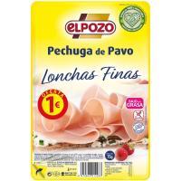 Pechuga de pavo lonchas finas ELPOZO, bandeja 85 g