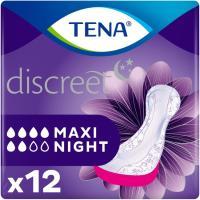 Compresa incontinencia maxi noche TENA Discreet, paquete 12 uds