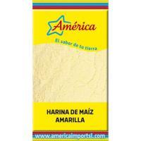Harina de maíz amarilla AMÉRICA, paquete 500 g