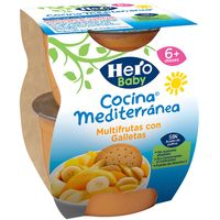 Tarrina de frutas-galleta HERO Cocina M., pack 2x200 g